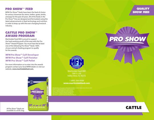 MFM Pro Show™ Cattle