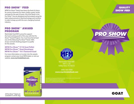 MFM Pro Show™ Goat