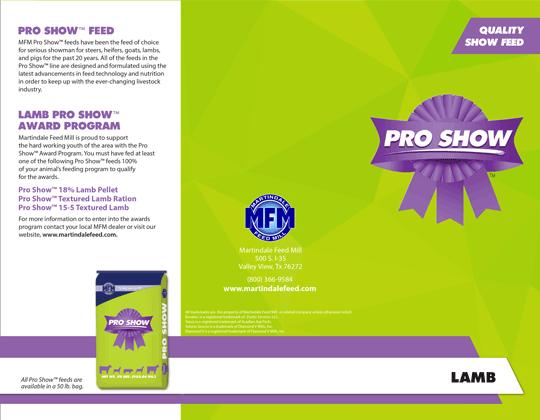 MFM Pro Show™ Lamb
