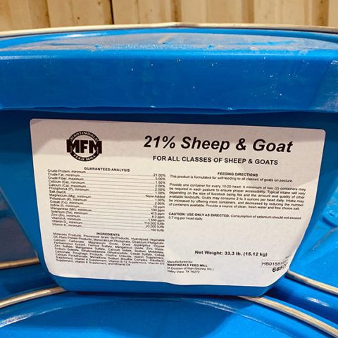 MFM 21% Sheep and Goat Cooked Pail